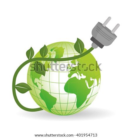 eco plug design , vector illustration