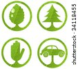 Eco signs. Set 1. - stock vector