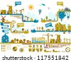 Ecology City Info Graphics Elements. - stock vector