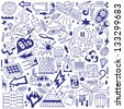Ecology - doodles collection - stock photo