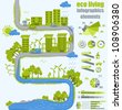 ecology info graphics - sustainable concept - charts, symbols, graphic elements - stock vector