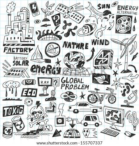 Hipsters Doodles Set Stock Vector 155707079 - Shutterstock
