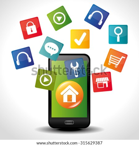 Ecommerce and mobile market applications design, vector illustration