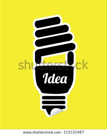 economy bulb over yellow background vector illustration