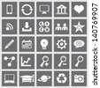 Editable Icons For Web and Mobile - stock vector