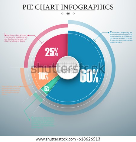 stock vector editable modern colorful business pie chart for your documents reports presentations and 618626513