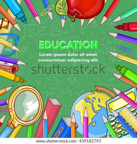 Education background back to school vector