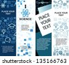 education banners with icons - stock vector