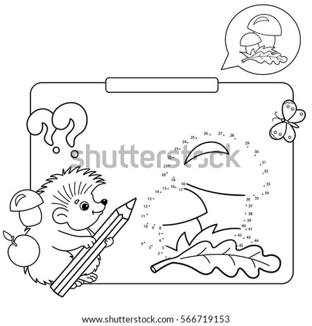 Educational Games For Kids Numbers Game Mushrooms Coloring Page Outline Of Hedgehog With
