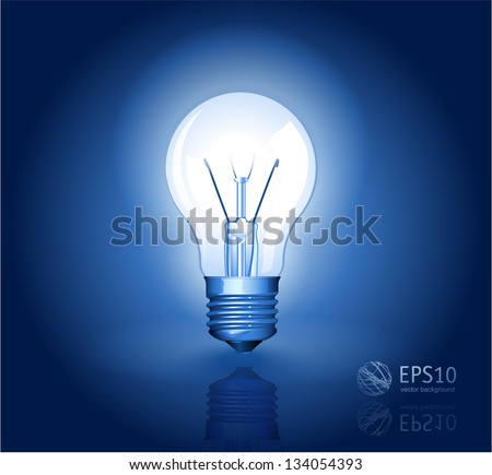 Electric light bulb vector abstract.