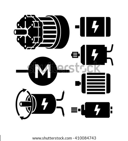 electric motor vector icons stock vector 410084743