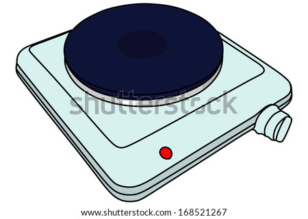 Electric portable stove. Vector illustration