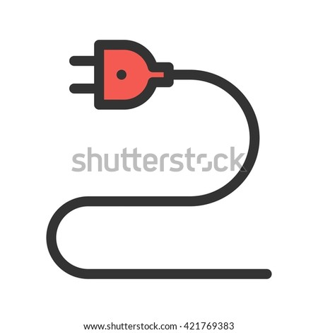 Electric Wire Stock Vector 378237847