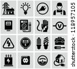 Electricity icons - stock vector