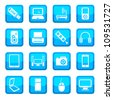 Electronic devices vector icon set for web and mobile. All elements are grouped. - stock vector
