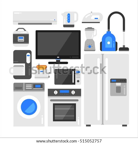 electronic home appliance product vector illustration flat design