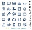 Electronics and gadgets icons set Perfect lines - stock vector