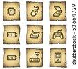 Electronics web icons set 2, papyrus series - stock vector
