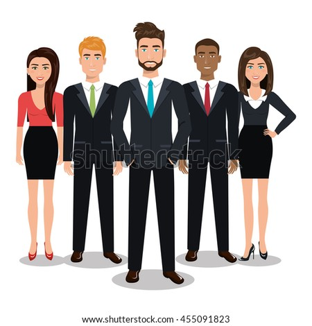 elegant businesspeople vector illustration