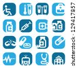 Elegant Colorful Medical Icons Set Created For Mobile, Web And Applications. - stock vector
