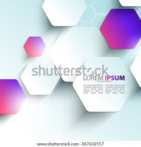 elegant hexagon shape elements corporate business background