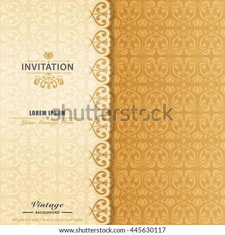 elegant ornament invitation card