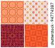 Elegant seamless pattern set.  This beautiful pattern can be used for wallpaper, pattern fills, web page background, surface textures. - stock vector