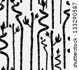 elegant seamless pattern with abstract bamboo for your design - stock