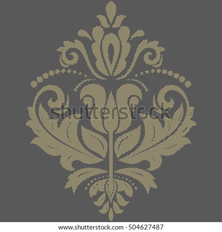 Elegant vector golden ornament in classic style. Abstract traditional pattern with diagonal lines
