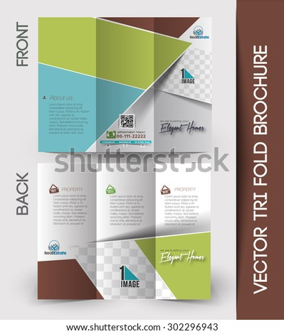Trifold Medical Brochure Design Template Front Stock Vector ...