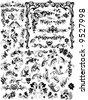 Континентальный количество черно-белый узор векторного материал.  Сайт бесплатных векторов.