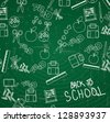 Elements of back to school vector illustration - stock vector