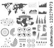 Elements of infographics - stock photo