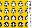 Emotions. Seamless pattern. - stock