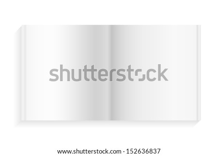 Empty diary book on white background - Vector illustration