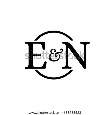 Stock Vector En Logo Initial Monogram Ft