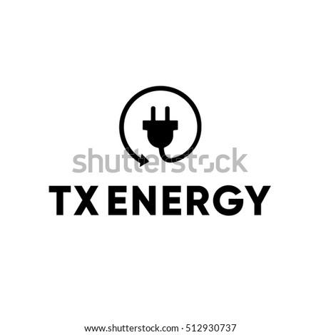 energy power electric electrician plug logo stock vector