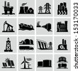 Energy production icons - stock