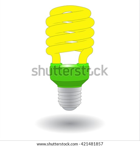 Energy Saving Lamp vector illustration.