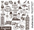 England set - stock vector