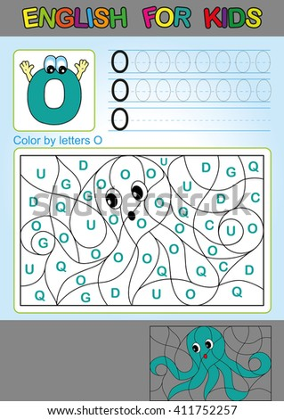color by letters coloring book for children spelling and games - Coloring Book Games