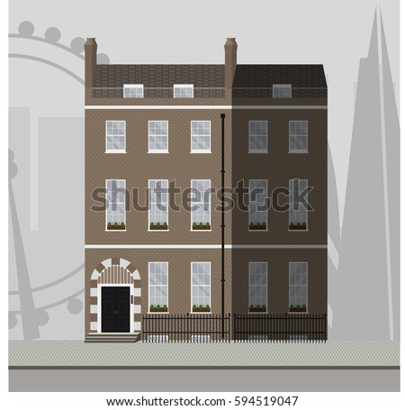Small Apartment Building Stairs Main Door Stock Vector 539965201 Shutterstock