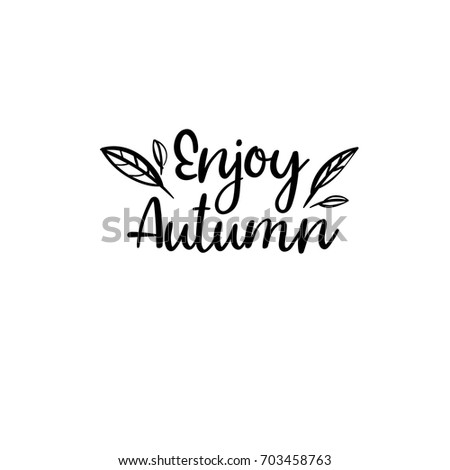 Sound Rain Modern Calligraphy Autumn Greeting Stock Vector ...