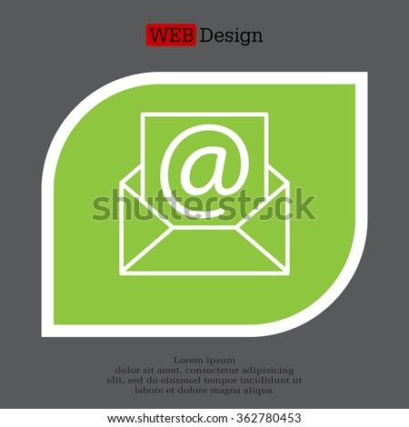 Envelope mail icon. Email message sign. Internet letter symbol. Linear outline icon. Vector