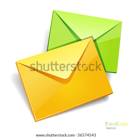 Envelops icon isolated. Vector illustration.