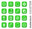 Environmental Vector Icon Set for web and mobile. All elements are grouped. - stock vector