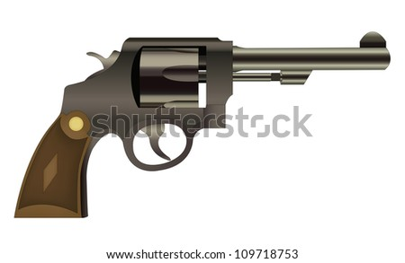 EPS10 file. Vector handgun isolated on a white background