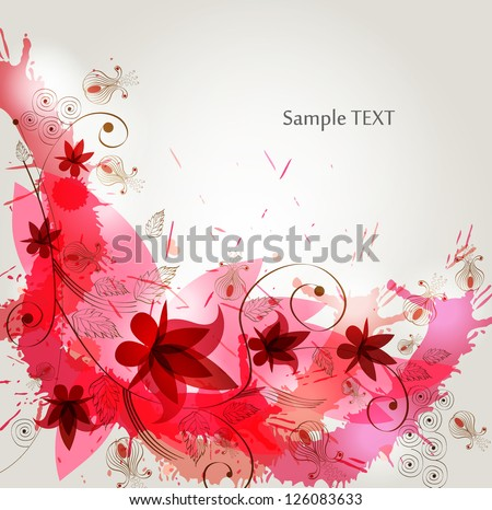 eps10 vector abstract floral background