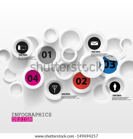 Eps10 Vector Abstract Paper Infographics