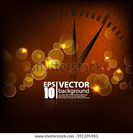 Eps10 vector abstract time concept textured background sparkle design